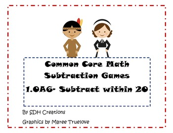 Thanksgiving Theme- Common Core Math Games: Subtract Within 20 (1.OA6)