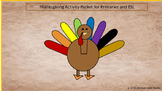 Thanksgiving  Cut and Paste Bilingual Colors and Numbers Practice Spanish/Eng