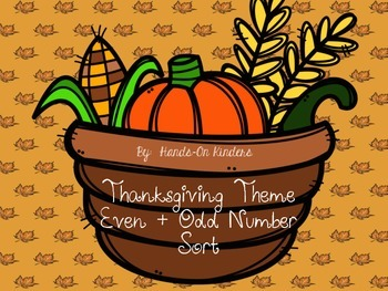 Thanksgiving Theme Even and Odd Math Center