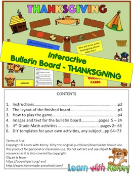Thanksgiving Theme Interactive Bulletin Board