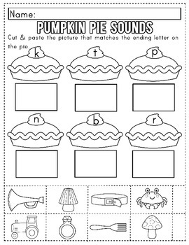 Thanksgiving Theme Literacy Packet for Kindergarten