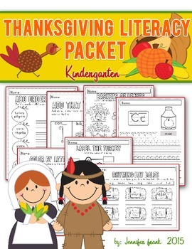 Thanksgiving Theme Literacy Packet for Kindergarten