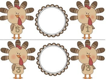 Thanksgiving Theme Math Centers