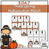 Thanksgiving Theme: Multiplication Match