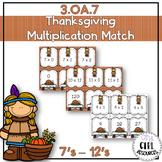Thanksgiving Theme: Multiplication Match 7s-12s