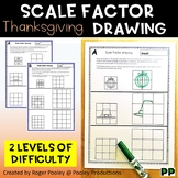 Thanksgiving Theme Scale Factor Drawing, 8 pgs, teacher notes