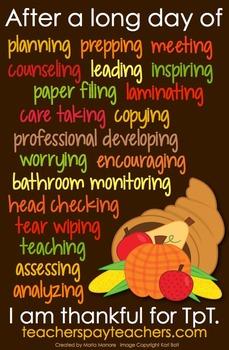 Thanksgiving Theme TpT Button