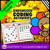 Holiday Unplugged Coding Activities (Thanksgiving Coding U