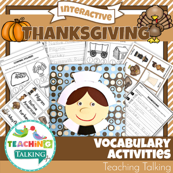 Thanksgiving Theme Vocabulary Activities