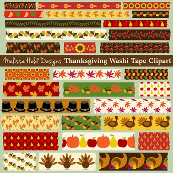 Thanksgiving Theme Washi Tape Clipart