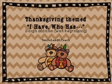 Thanksgiving Themed 2-Digit Addition (With Regrouping) I H