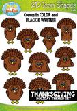Thanksgiving 2D Icon Shapes Clipart {Zip-A-Dee-Doo-Dah Designs}