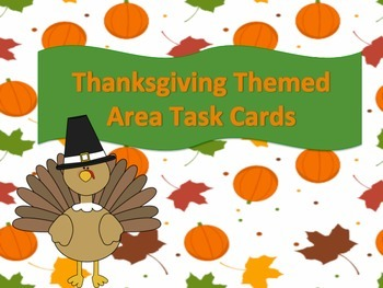 Thanksgiving Themed Area Task Cards