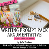 Writing Prompt Pack, Argumentative Essay on Obesity Taxation