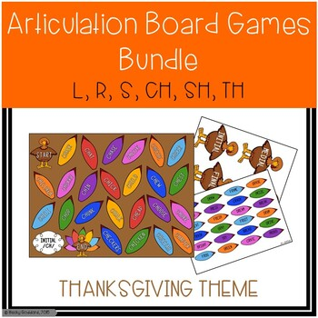 Thanksgiving Themed Articulation Board Games BUNDLE