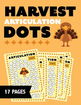 Thanksgiving Themed Articulation Dots (No Prep!)