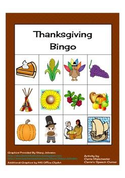 Thanksgiving Themed Bingo