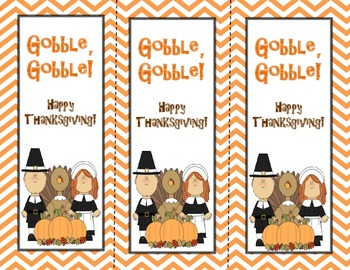 Thanksgiving Themed Bookmarks FREE