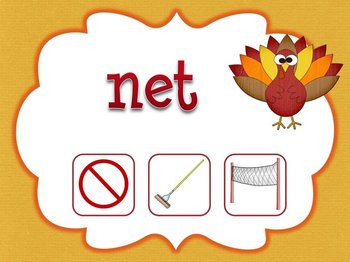 Thanksgiving Themed CVC Words Game for Smartboard or Promethean Board!