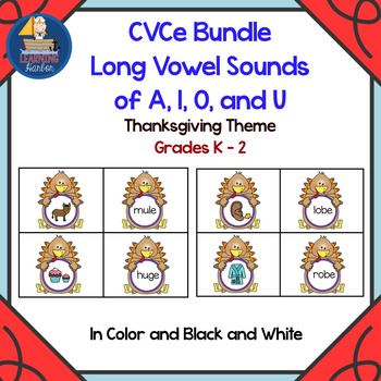 Thanksgiving Themed CVCe Word Games Bundle