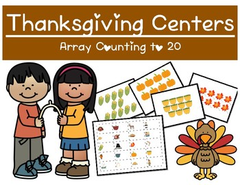 Thanksgiving Themed Centers - Array Counting to 20