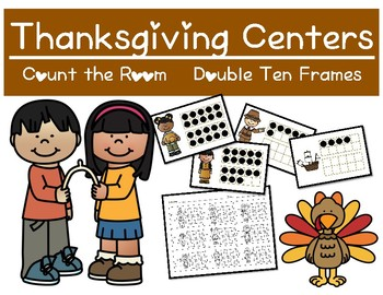 Thanksgiving Themed Centers - Count the room - Double 10 frames