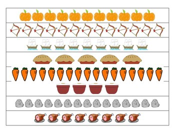 Thanksgiving Themed Centers - Line Counting to 20
