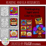 Sight Word Coloring Sheets - Thanksgiving Themed Color by Code