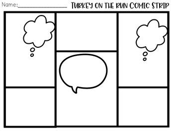Thanksgiving  Themed Comic Strip Writing