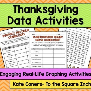 Thanksgiving Themed Data Collection Activities