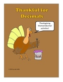 Thanksgiving Themed Decimal Operation Activities