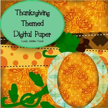 Thanksgiving Themed Digital Paper