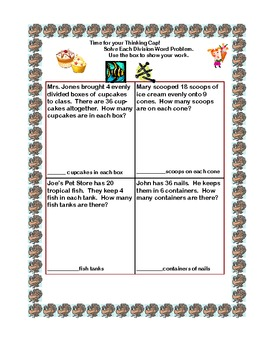 Thanksgiving Themed -Division for Grades 3-4-Sequenced Printable Worksheets