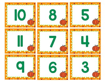 Thanksgiving Themed Double Digit Ten Frames Trace and Count