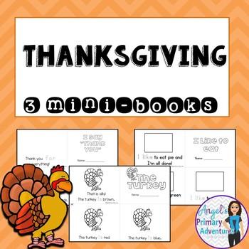 Thanksgiving Emergent Readers:  Set of 3 mini-books