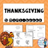 Thanksgiving Emergent Readers:  Set of 3 mini-books