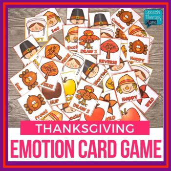 Thanksgiving Themed Emotions Card Game - FREEBIE