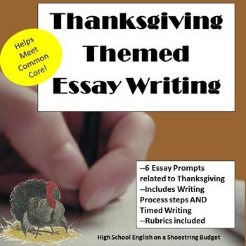 Thanksgiving Themed Essay Writing, w Rubrics & Printables