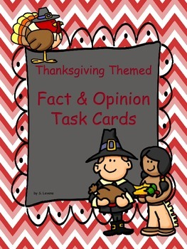 Thanksgiving Themed Fact & Opinion Task Cards