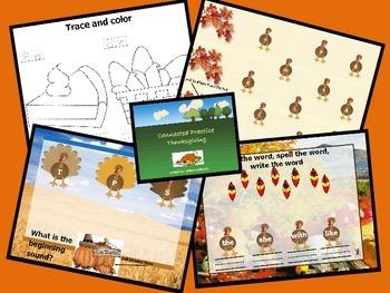 Thanksgiving Themed Flipchart Activies