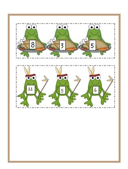 Thanksgiving Themed Froggy Fact Famliy Cards