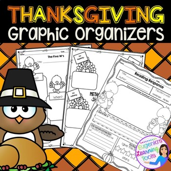 Reading Graphic Organizers for Reading Comprehension, Thanksgiving Activities