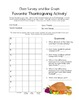 Thanksgiving Themed Graphs- Constructing Own and Interpreting Pre-Made Graphs