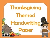 Thanksgiving Themed Handwriting Paper