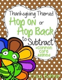 Thanksgiving Themed Hop On or Hop Back to Subtract