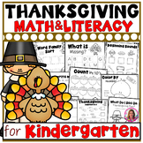 Thanksgiving Themed Kindergarten Literacy and Math Printables