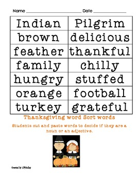Thanksgiving Themed Langague Arts Packet