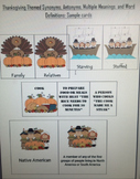 Thanksgiving Themed Language: Antonyms, Synonyms, Multiple