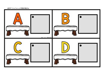 Thanksgiving-Themed Matching Cards for Letters and Sounds