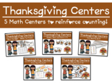 Thanksgiving Themed Math Center Bundle - 5 Counting Centers